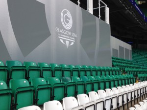 Branded hoardings for the Glasgow Commonwealth Games
