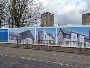 Branded hoardings for Cruden Homes new housing development