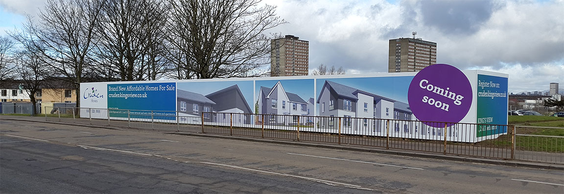 One of our recent Hoardings for Cruden Homes