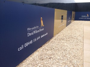 Branded hoardings for David Wilson Homes, new site launch