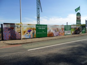 Branded hoardings for McCarthy and Stone house builders