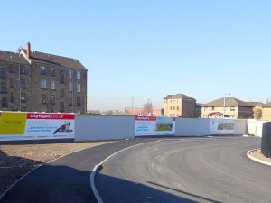 Temporary hoarding panels for Legacy Homes