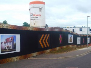 Temporary hoarding panels for a KIER Development project