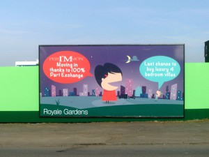 A Hoarding billboard for Persimmon Homes